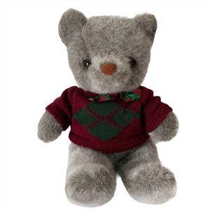 Vintage Gray Lord & Taylor Bear Stuffed Animal